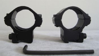 "Nikko Match Scope Mounts 1""/25mm 9-11mm 3/8"" Base - LOW NSMM138L"